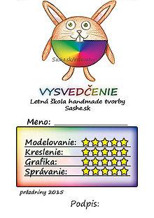 Papiernictvo - Letné vysvedčenie Guľkáči  (dúhoví) - 5732131_