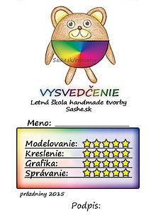 Papiernictvo - Letné vysvedčenie Guľkáči macko (dúhoví) - 5732135_
