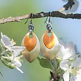Náušnice Double - yellow and orange