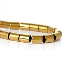 Minerály - Hematitový valček 6x5 mm - zlatý - 5734889_