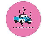 - Nad tatrou sa blýska odznak / Ružový - 5734214_