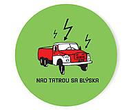 - Nad tatrou sa blýska odznak / Zelený - 5734285_
