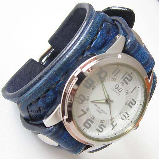 a050fbf89 Dámske kožené hodinky modré / leon - SAShE.sk - Handmade Náramky