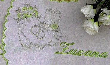 Iné doplnky - svadobné podbradníky-vyšívané - 5735283_