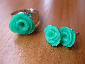 Sady šperkov - Zelené ružičky sada č.261 - akcia - 5733135_