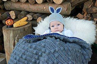Detské čiapky - Zajkovská ušianka - 5733931_