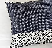 Úžitkový textil - Patchwork - vankúš sivé kocky - 5735310_