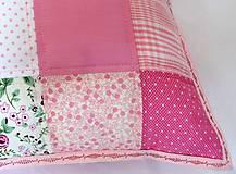 Úžitkový textil - Vankúš - Ružové kocky - 5735383_