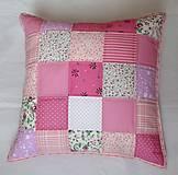 Úžitkový textil - Vankúš - Ružové kocky - 5735384_