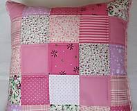 Úžitkový textil - Vankúš - Ružové kocky - 5735385_