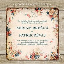 Papiernictvo - Svadobné oznámenie Aurelia - 5735871_