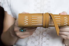 Papiernictvo - Kožený zápisník Bianka A6 - 5733471_