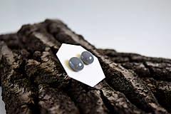 Náušnice - MINI sklenené náušničky - Sivé - 5734122_