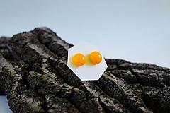 Náušnice - MINI sklenené náušničky - Slnečná žltá - 5734186_