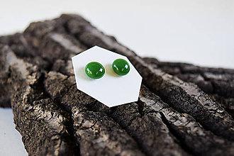 Náušnice - SimplyCity -030 - Lesná zelená /Tmavozelená - 5734161_