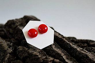 Náušnice - SimplyCity - 012 - Červené - Red - 5734207_