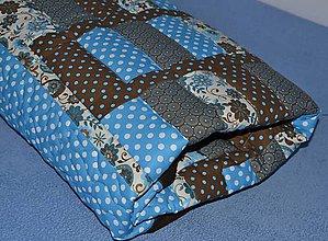 Textil - Veľká tyrkysovo hnedá deka - 5734978_