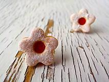 linecké kvietky-napichovačky (5cípe-malinový džem)