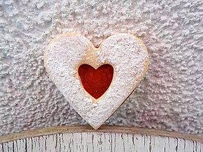 Odznaky/Brošne - linecke srdce - brosna (nenakusnute srdce) - 5735592_