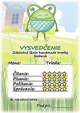 Papiernictvo - Letné vysvedčenie Guľkáči žabka - 5733554_