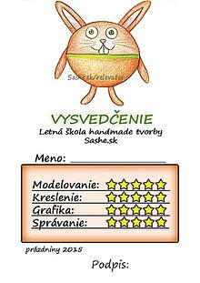Papiernictvo - Letné vysvedčenie Guľkáči zajačik - 5733383_
