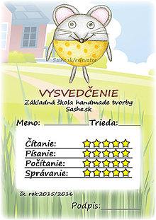 Papiernictvo - Letné vysvedčenie Guľkáči myš (s pozadím) - 5733543_