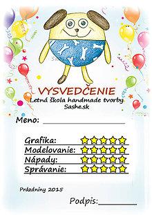 Papiernictvo - Letné vysvedčenie Guľkáči psík (a balóny) - 5733729_