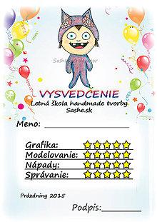 Papiernictvo - Letné vysvedčenie Detské kostýmy a balóny - sovička - 5733777_