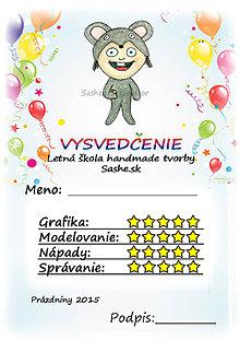 Papiernictvo - Letné vysvedčenie Detské kostýmy a balóny - myška - 5733806_