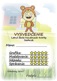 Papiernictvo - Letné vysvedčenie Detské kostýmy - macko - 5734936_