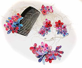 Sady šperkov - million bels-kvetinový set-dva šperky - 5738065_