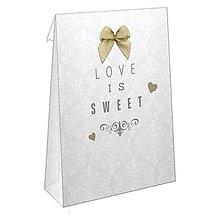 Obalový materiál - V zľave z 4€ - Sweetie taštičky 20ks - Wedding - Damask - 5737657_