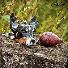 Kľúčenky - Kľúčenka s hlavou psa podľa fotografie - 5736574_