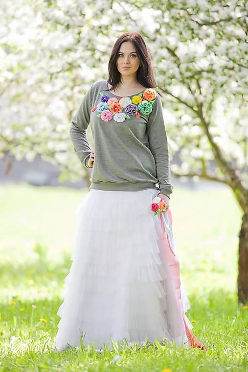 e6a91b307947 Biela svadobná riasená sukňa   LadyDK - SAShE.sk - Handmade Sukne