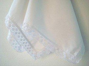 Úžitkový textil - Obrus biely ľanový - 5737402_