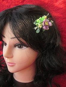 Ozdoby do vlasov - sponka,pukačka fialová do vlasov - 5738992_