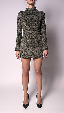 Šaty - Rolákové minišaty - 5742721_