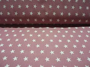 Textil - Bavlnený popelín - hviezdičky ružové - 5742246_