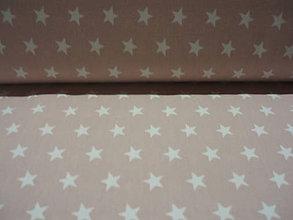 Textil - Bavlnený popelín - hviezdičky svetloružové - 5742254_