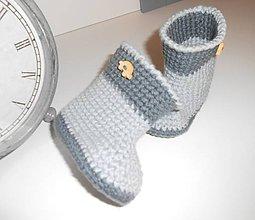 Topánočky - Háčkované papučky 2 - 5742166_