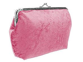 Kabelky - Dámská růžová kabelka zamatová  04703A - 5745275_