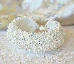 Náramky - White Pearl Chic (na objednávku) - 5744882_