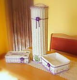 Košíky - Kúpeľňový set levandulová - 5744684_