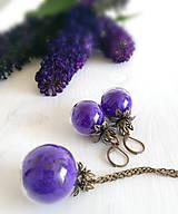 Sady šperkov - Tajomstvo zamatového kvetu / sada - 5746429_