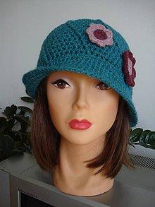 Čiapky - klobučik s kvetinkami - 5746743_