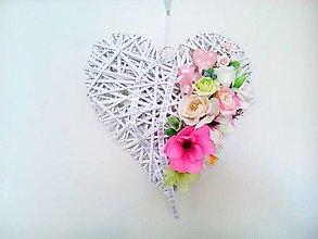 Dekorácie - Veľké srdce - Mr. and Mrs. - 5746992_