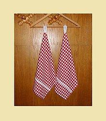 Úžitkový textil - UTĚRKY ... červené 2 ks - 5747645_
