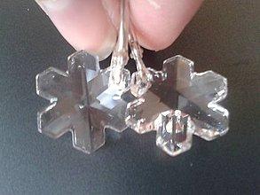 Náušnice - Swarovski snehove vlocky v striebre - 5747540_