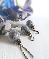 Sady šperkov - Päť až desať odtieňov sivej / sada - 5749950_