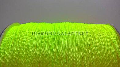Galantéria - Shamballa šnúrka nylonová 1,5 mm - neonovo žltá - 5750975_